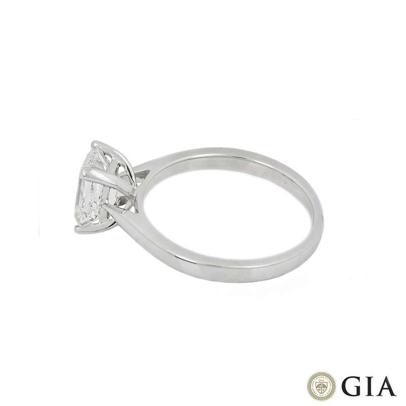 18k White Gold Emerald Cut Diamond Ring 1.50ct G/VS1